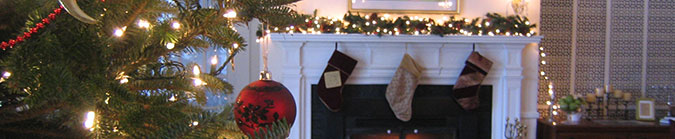 Holidays at Four Chimneys Inn in historic Bennington, VT
