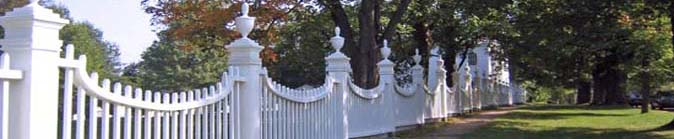 Old First Church Fence near Four Chimneys Inn in historic Bennington, VT
