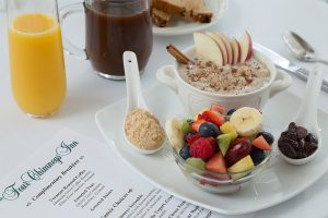 Breakfast Oatmeal with menu of choices