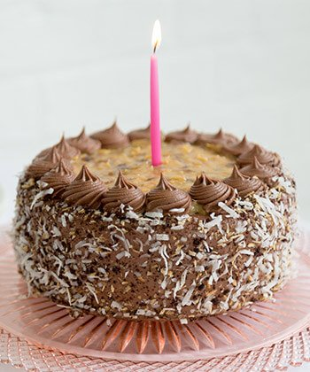 Chocolate Birthday Cake with Candle
