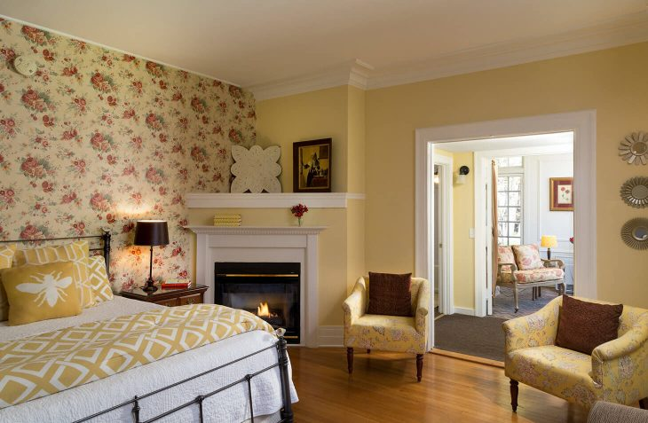 Room that rivals a hotel in Bennington VT, fireplace