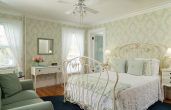 Bright and cheery room at our romantic getaway in Vermont