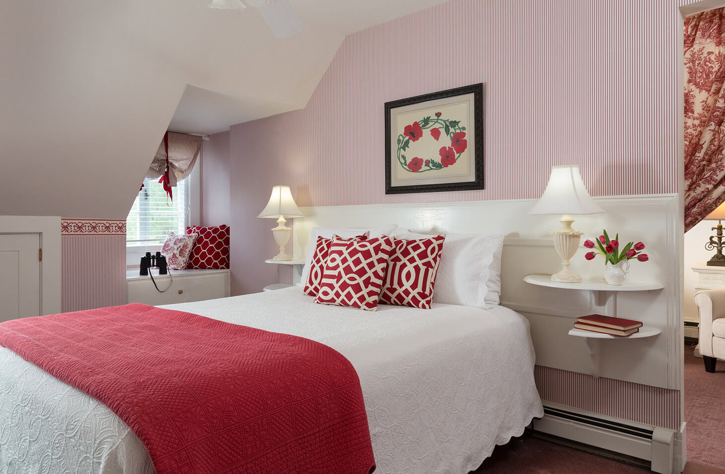 bennington vermont hotel corporate travel red bedroom
