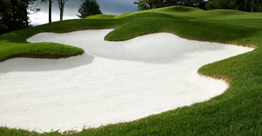 Sand trap at Mount Anthony Country Club Bennington Vermont