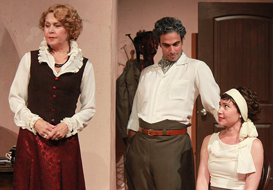 old castle theatre company play showing three actors