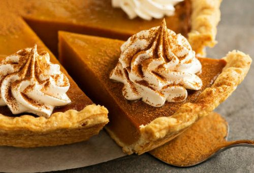 Vermont Thanksgiving with homemade pumpkin pie slice
