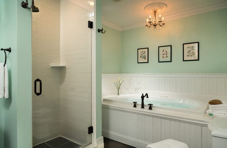 Modern bathrooms and deluxe soaking tub Bed and Breakfast in Bennington, VT