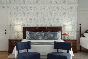 Room 10 blue and white decor