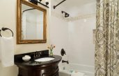 Bathrooms more luxurious than at Hhotel in Bennington VT
