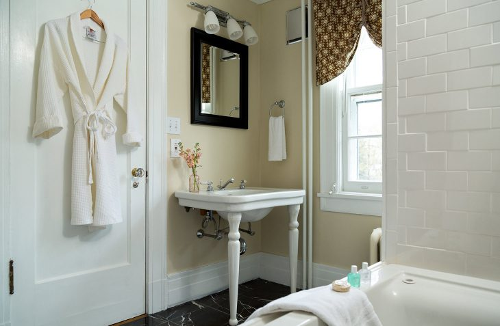 Bennington VT B&B modern bathroom