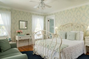 Room 4 decorated with soothing spa blue colors