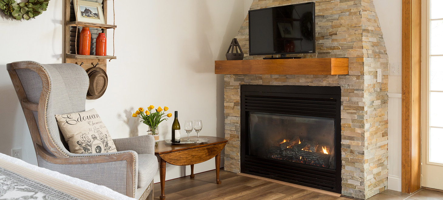 Vermont retreat centers with fireplaces in rooms