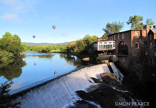 Simon Pearce Woodstock Vermont waterfalll