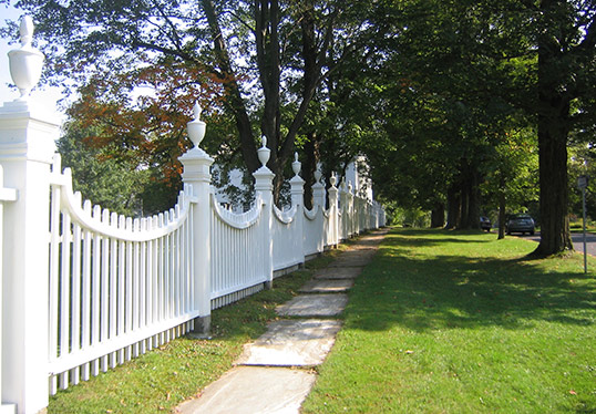 white fence Old First Church Bennington Vermont
