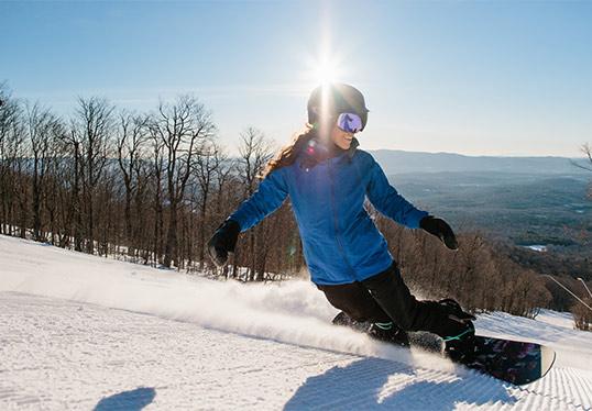 Bromley skiing near Bennington Vermont