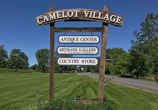 Camelot Village Sign Antique Center, Vermont Artisans Gallery, and Country Store