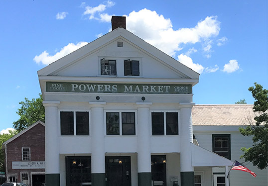 Exterior of Powers Market bennington vermont