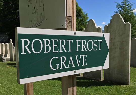Sign for Robert Frost Grave