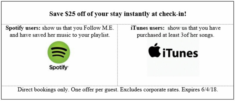 Maria Elena Little Spotify and iTunes coupon