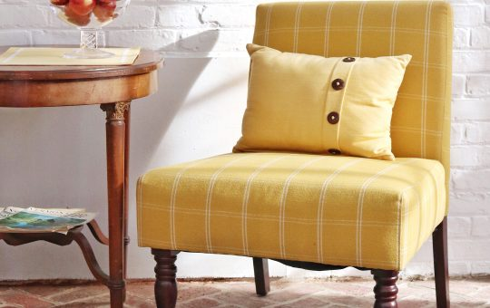 vermont bed and breakfast sunroom yellow designer chair