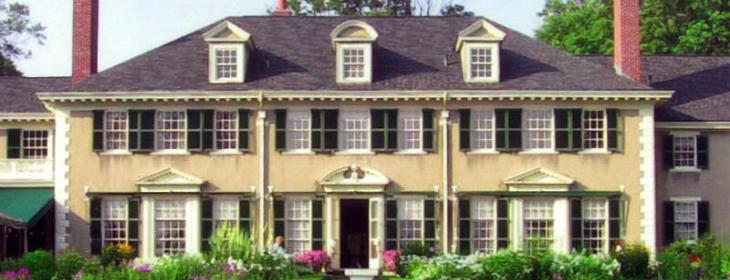 exterior photo of Hildene estate manchester vermont summertime