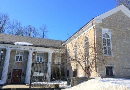 bennington museum exterior in winter