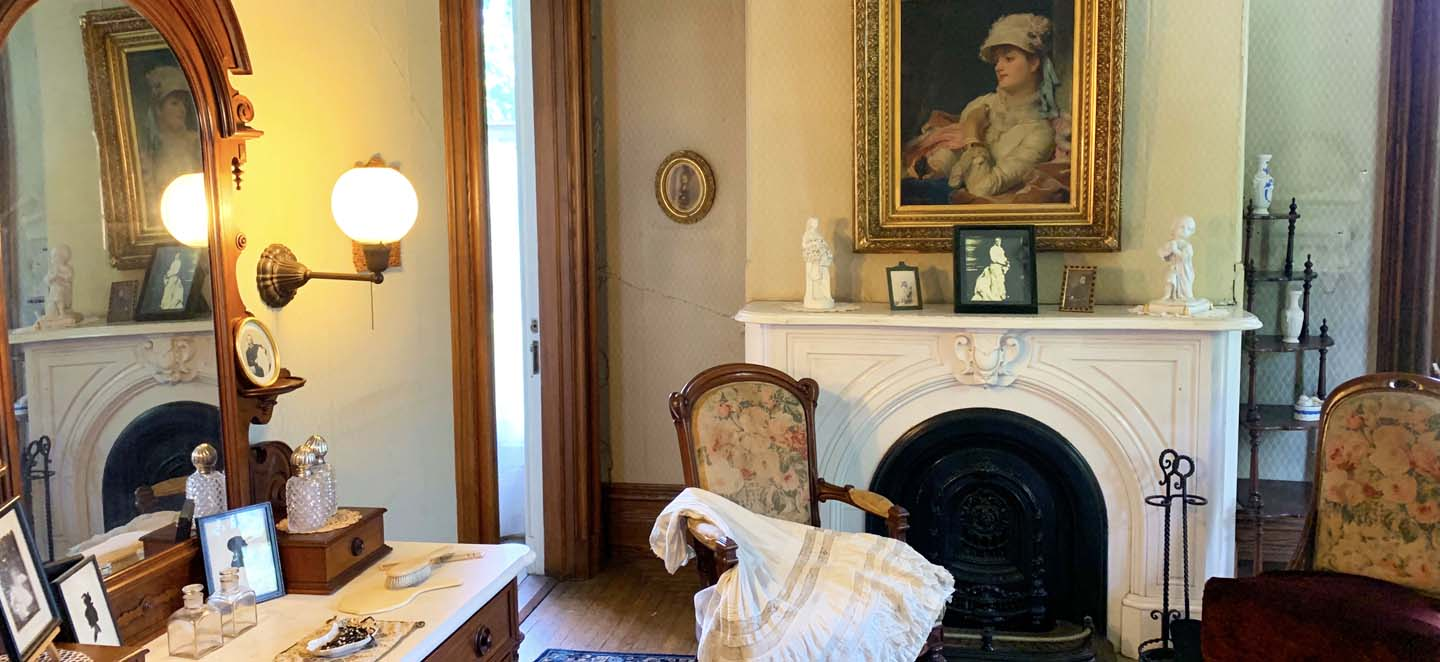 bedroom vignette historic mansion vermont governor mccullough residence