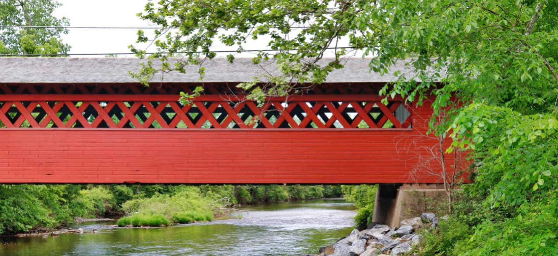 Vermont Covered Bridge springtime