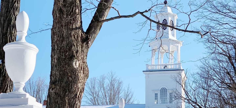 Bennington Vermont Old First Church Snow