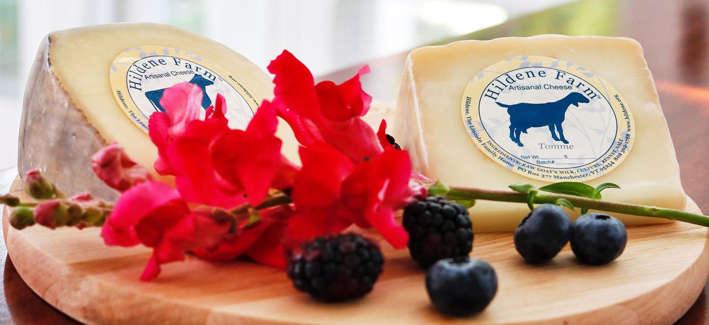 hildene blue cheese berries flowers