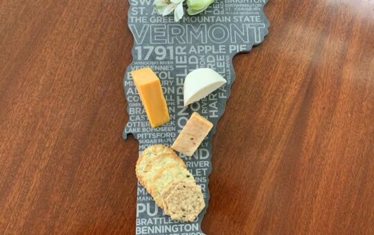 vermont slate cheese board cheeses