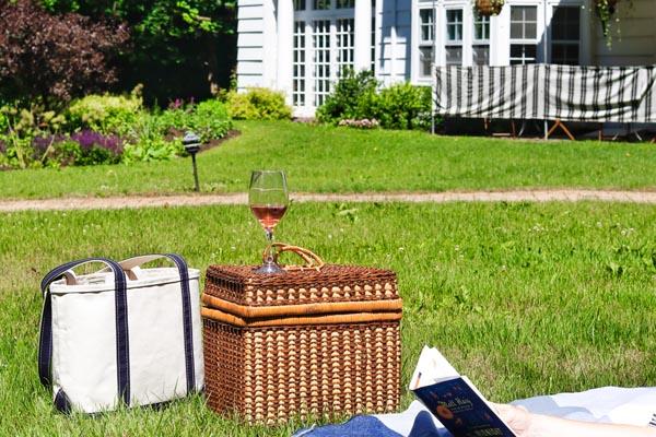 lawn picnic at four chimneys inn vermont